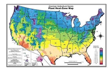 ahs plant heat zone map american horticultural society