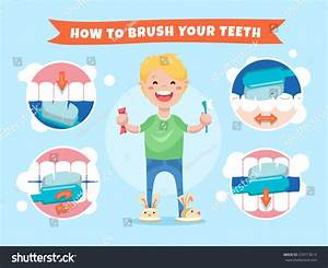 Smiling Boy Holding Toothbrush Toothpaste How Stock Vector