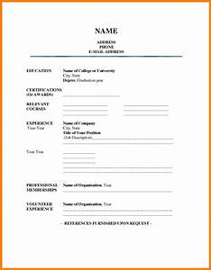 7  Free Fillable Resume Templates