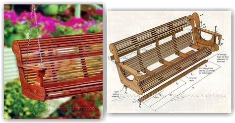 classic porch swing plans woodarchivist