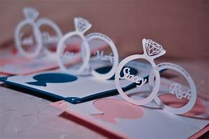 Wedding invitation pop up card linked rings tutorial for Wedding invitation pop up card linked rings tutorial