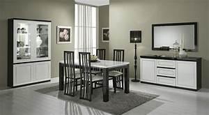 Salle A Manger Noir : salle a manger alinea 1 salle 224 manger noir et blanc ~ Premium-room.com Idées de Décoration