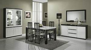 salle a manger design laquee noire et blanche darma With salle a manger noire