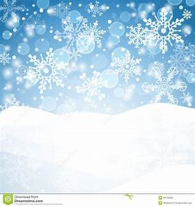 Winter Background With Snow. Christmas Snow Banner. Stock ...