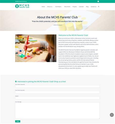 web design dallas mchs parents club web design dallas 2 i t roadmap