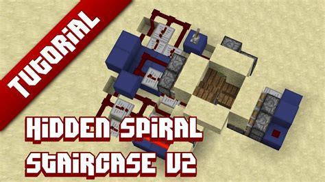 minecraft tutorial hidden spiral staircase v2 now with