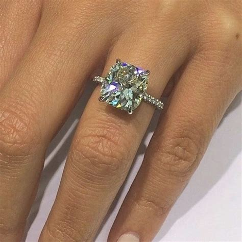 d vs2 1 30 ct cushion cut micro pave engagement ring