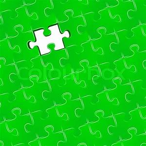 Jigsaw puzzle with one missing piece | Stock Vector ...