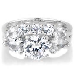 silver wedding ring sets sterling silver 3 wedding ring set