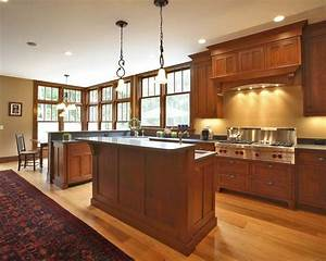 whiporwill craftsman kitchen new york by callaway With kitchen cabinets lowes with mission style wall art