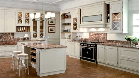 Italian Classic Kitchen Design With Hutch And Antique