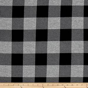 Hatchi Lightweight Sweater Knit Buffalo Check Plaid Black
