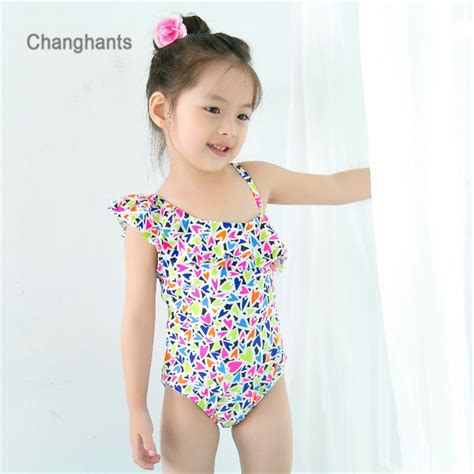 baby  pieces swimwear  multicolored hearts pattern