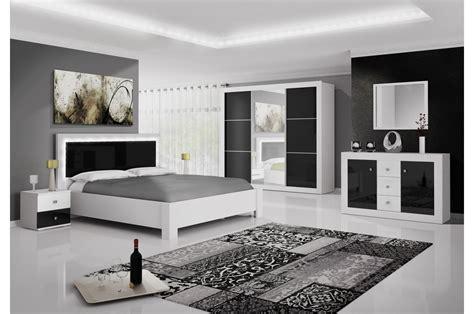 Chambre à Coucher Moderne Blanc Et Noir Laqué Cbcmeubles
