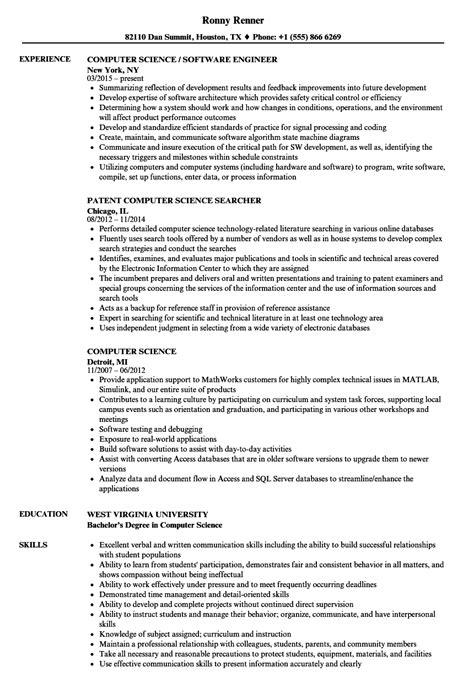 computer science resume samples velvet jobs