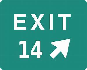 Exit 14 Sign Clip Art At Clker Com