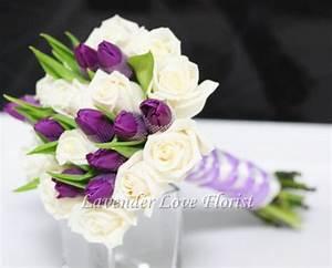 Tulip Flower Bouquet Purple And White   www.pixshark.com ...