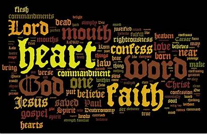 Faith Word Romans Righteousness Words Christ Deuteronomy