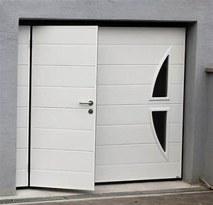 porte de garage basculante w1r With porte de garage basculante avec portillon pour double porte