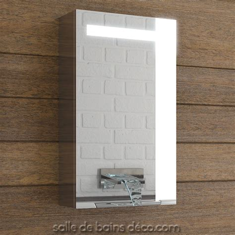 armoire salle de bain avec miroir meuble suspendu 40cm achat vente sur salledebainsdeco