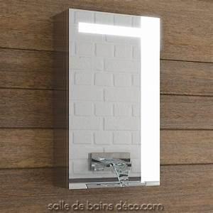 Armoire De Salle De Bain Avec Miroir : petite armoire salle de bain avec miroir meuble suspendu ~ Dailycaller-alerts.com Idées de Décoration