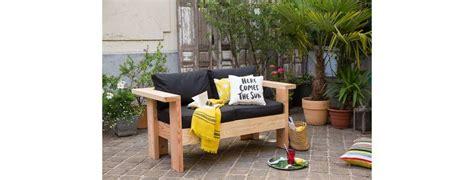 fabriquer canapé diy fabriquer un canapé de jardin zone outillage