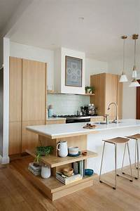 35 sensational modern midcentury kitchen designs With kitchen cabinet trends 2018 combined with midcentury modern wall art