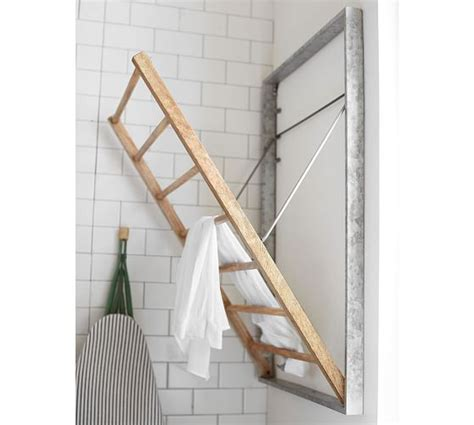 galvanized laundry drying rack pottery barn