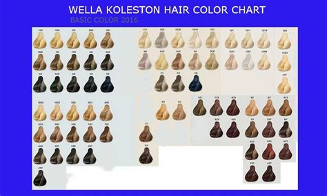 37 Fancy Wella Permanent Hair Color Chart Ja112762