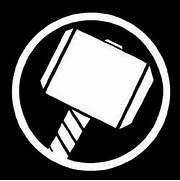 thor hammer logo decal...