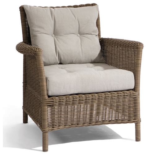 wicker lounge chair beaumont collection traditional