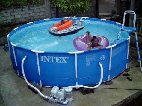in intex swimming pool