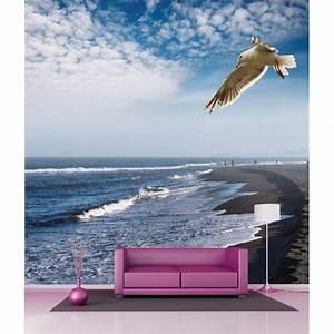 Papier Peint Geant : papier peint g ant d co plage mouette 250x250cm art d co ~ Premium-room.com Idées de Décoration