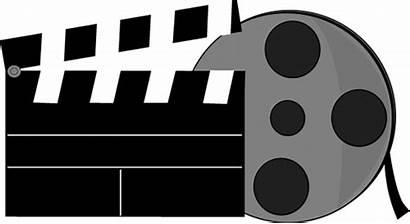 Clip Film Clipart Reel Clapper