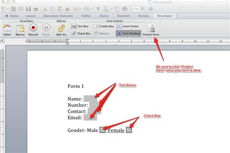 create forms  microsoft word  backmixe