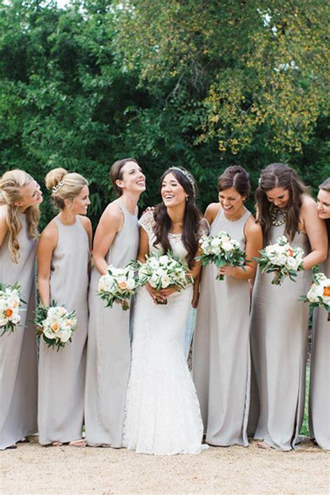 sophisticated grey bridesmaid dresses wedding dresses