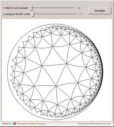 pentagon tiling hyperbolic plane wolfram demonstrations project