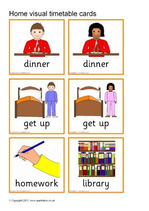 timetable  routines  home printables  primary
