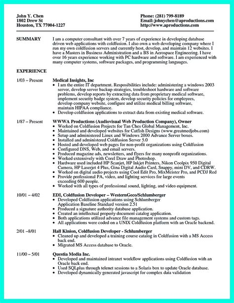 computer programmer resume exles to impress employers