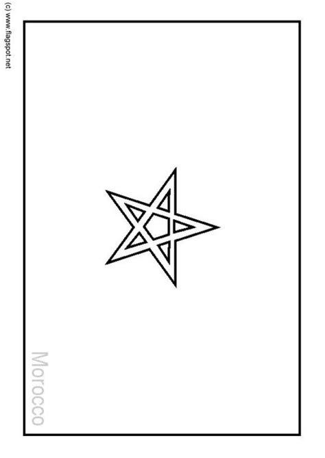 Vlag Marokko Kleurplaat by Kleurplaat Marokko Afb 6205