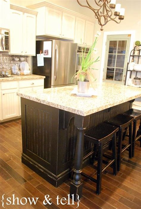 kitchen island redo different colour than main cabinetry