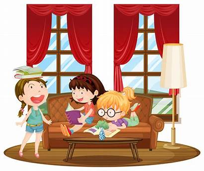 Living Reading Vector Books Three Clipart Background
