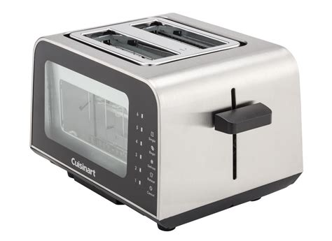 Cuisinart Toaster by Cuisinart View Pro Glass 2 Slice Cpt 3000 Toaster