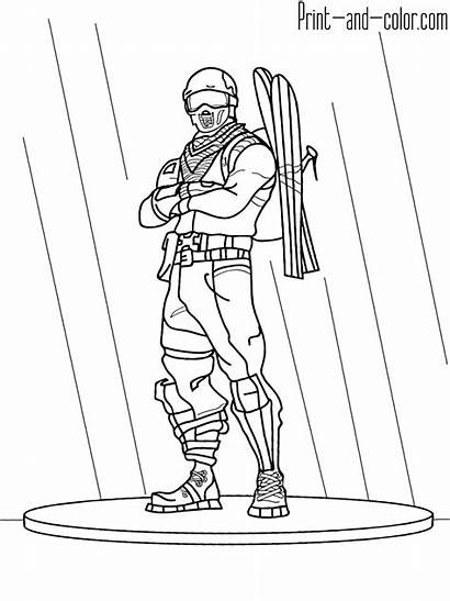Fortnite Coloring Pages Printable Sheets Boys Colors