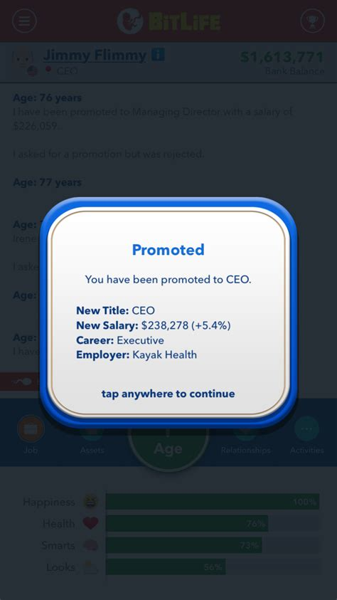 bitlife ceo become simulator