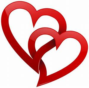 Two Red Hearts PNG Clipart | Corações | Pinterest ...