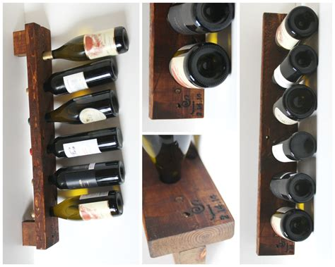 Personalized Wine Rack Rustic Wood Wall Wine Display 6