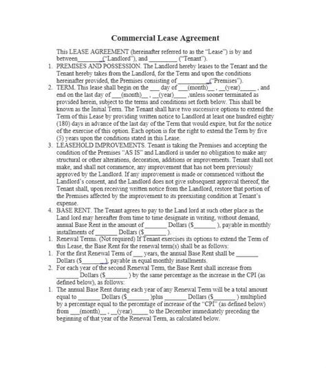 lease agreement templates lease agreement good