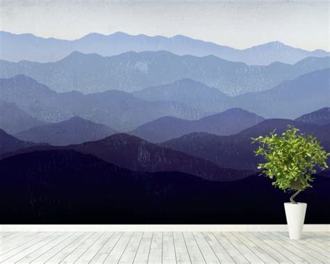 Purple Mountains Wall Mural & Purple Mountains Wallpaper