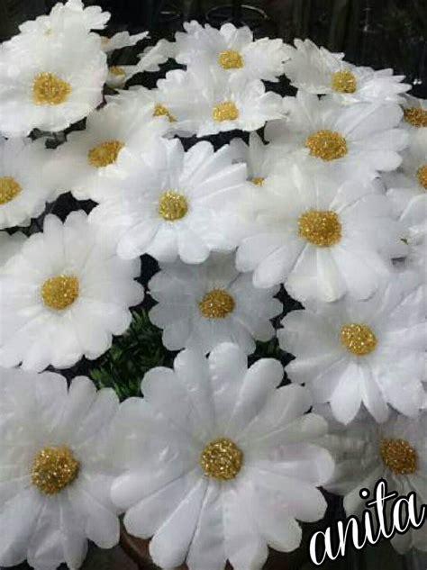 tutorial  daisy flowers  plastic bag simple